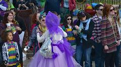 Close Encounters of the Purple Kind (BKHagar *Kim*) Tags: street carnival people lady colorful day dress purple neworleans crowd parade celebration napoleon nola mardigras prytania bkhagar kreweoftucksparade