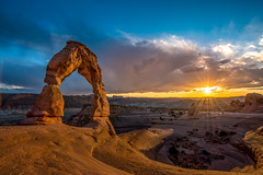 Arches National Park at sunset (Tim Shields BC) Tags: park sunset arch arches national delicate timshieldsphotography
