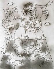 PSYCHOPATHIA SEXUALIS (1886): Observation 97 (Claude Bolduc) Tags: art rawart outsider surrealism artbrut artsingulier selftaugh psyart