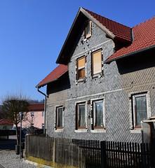 (:Linda:) Tags: germany thuringia town themar decay abandoned slateshingled woodenfence bluesky