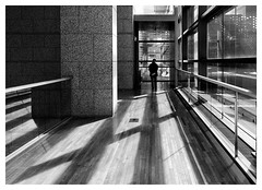 Contemplating the next step (markal) Tags: tokyo  mot kotoku  museumofcontemporaryarttokyo japaninblackandwhite markalberding