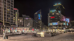 Byporten HDR (Sigurd R) Tags: oslo norway night norge spring downtown shot no shoppingcentre hdr oslocity skyskraper