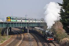 Over and Under (McTumshie) Tags: england london train unitedkingdom railway steam tornado steamtrain steamlocomotive londonist 60163 118c belmondbritishpullman 12march2016