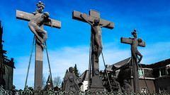 Crosses (canaanite98) Tags: street city history mill windmill st viktor germany de deutschland daylight europe cross cathedral wind roman dom jesus culture cologne christian chruch empire civilization christianity christians xanten deutsche germans