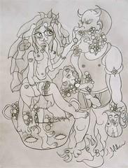 PSYCHOPATHIA SEXUALIS(1886): Observation 103 (Claude Bolduc) Tags: rawart outsiderart drawing artbrut lowbrow visionaryart weirdart sensualart psyart sexualart
