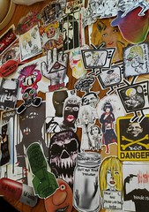 BLONDIE (andres musta) Tags: crustycreatures2 stickerart stickers crusty creatures toronto 2 crustycreatures adhesives
