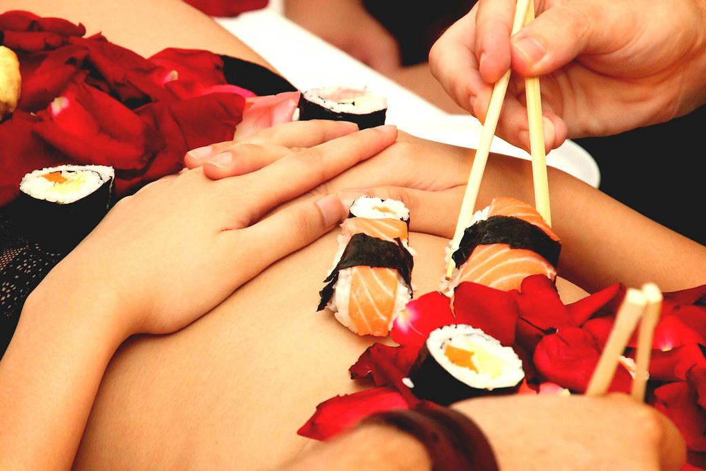 Nyotaimori-Sushi