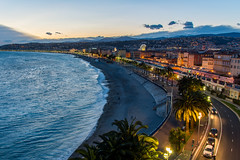 Our First Nice Sunset (lncgriffin) Tags: travel france nice nikon europa europe cotedazur palmtrees bluehour nikkor oldtown hdr nizza mediterraneansea frenchriviera promenadedesanglais vieilleville rpubliquefranaise d610 hotelsuisse 24120mmf4gvr eyeofnice