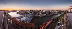 Porto at Sunset - Oporto en la puesta de Sol (tomasc75) Tags: bridge sunset panorama portugal rio river puente sony porto panoramica douro puestadesol oporto duero carlzeiss vilanovadegaia variotessar a7r domlusi donluisi alpha7r ilce7r fe1635mmf4zaoss sel1635z