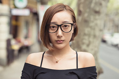 Yuki (Jon Siegel) Tags: china street portrait woman girl beautiful fashion 50mm glasses nikon afternoon shanghai gorgeous 14 chinese sigma style stylish fashionable frenchconcession d810 sigma50mmf14art
