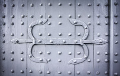 Studded (Josieroo13) Tags: door uk england abstract detail texture monochrome repetition lincoln fortification studs lincolncastle studded