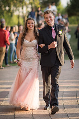 Prom Time (dpsax) Tags: senior happy dance couple dress tie highschool prom dating fancy gown tux grandmarch seniorball