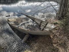 Prammen (la1cna) Tags: lake nature norway walking boat spring olympus telemark sundaywalk ruralexplorer