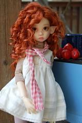 Elven Harvest (Emily1957) Tags: light toy toys nikon gracie doll dolls tomatoes kitlens naturallight elf bjd elven nikond40 kayewiggs