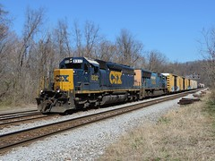 CSX 8312 and 4750 (Trains & Trails) Tags: diesel pennsylvania engine transportation locomotive csx fayettecounty connellsville emd sd402 8312 darkfuture yn3 standardcab q38825