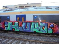 195 (en-ri) Tags: train writing torino graffiti blu crew azzurro ih uao