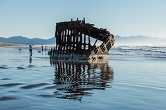 2016-01-10 - Peter Iredale Shipwreck-19 (www.bazpics.com) Tags: ocean sea usa beach water oregon america skeleton sand ship pacific or wave peter shipwreck frame hull wreck iredale