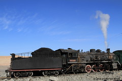 I_B_IMG_6305 (florian_grupp) Tags: china railroad train landscape asia mine desert muslim railway steam xinjiang mikado locomotive coal js steamlocomotive 282 opencastmine sandaoling