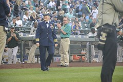 Mariners' 14th Annual Salute to Armed Forces Night (Coast Guard News) Tags: seattle coastguard sports army us washington unitedstates baseball volunteers navy honor mariners safecofield tradition airforce marinecorps oaklandathletics epoy firstpitch