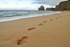 Step by step (juliecarmen.fahy) Tags: ocean road sea beach water landscape foot sand sandy great steps australia victoria cliffs twelve apostles