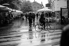 (GaRiTsanG) Tags: street bw bike copenhagen denmark blackwhite xpro fuji streetphotography streetphoto raining stphotographia