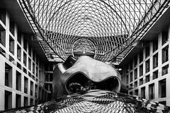 Lines and curves (alxfink) Tags: blackandwhite bw building berlin lines architecture lumix blackwhite curves ceiling atrium