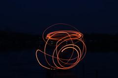 Lines (nibrjosa) Tags: wool night fire long exposure steel spinning