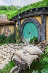 Hobbiton Movie Set (The Shire from LOTR and The Hobbit) (iriskh) Tags: newzealand movie lotr hdr hobbiton 18200mm nikond5100