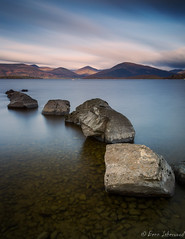 Lomond Stones [Explored] (buddsnax) Tags: uk longexposure sunrise scotland stones loch lochlomond milarrochy