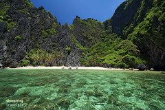 Secret Lagoon Entrance (engrjpleo) Tags: travel sea seascape beach water rock landscape island coast outdoor philippines karst seashore elnido palawan waterscape rockformation miniloc secretlagoon bacuitbay
