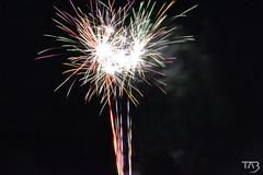 Fireworks! (Tahlina) Tags: uk nightphotography carnival light colour contrast dark nikon fireworks smoke firework explore knighton powys explored