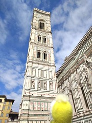 Swami at the Duomo and Campanile (ashabot) Tags: travel italy unesco firenze renaissance swami florenceitaly historicalsites worldheritagesites travelingcompanions italianarchitechure