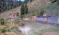 Clear Signal on the Espee (craigsanders429) Tags: california amtrak railroadsignals southernpacific sierranevadamountains aboardatrain passengertrains passengercars travelbytrain amtraktrains sdp40f amtraklocomotives aboardamtrak amtraksdp40fno627 amtrakssanfranciscozephyr amtraksdp40fno626 amtraksdp40fs