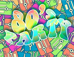 80s party retro concept, Vintage poster design (andrecardosoreal) Tags: old party music color art fashion sign hippies illustration night vintage print fun disco design concert 60s colorful graphic image symbol time background live pop retro event cover 80s sing revolution 70s karaoke years concept friday eighties disc seventies audio period cassettes sixties nineties 90s compilation mmmreto3030