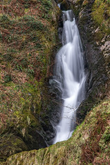 Cascade at Dolgoch (Howie Mudge LRPS) Tags: uk travel travelling tourism nature water grass leaves wales forest woodland river landscape outside flow outdoors landscapes waterfall moss woods stream day postcard hill ngc cymru overcast falls bracken fullframe polarizer cascade dull steep gwynedd polariser dolgochfalls fantasticnature nikond750 24120mmf4gafsedvr