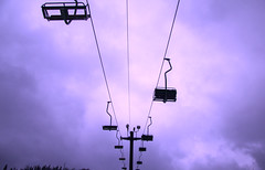 Lift (littlekrm) Tags: life trees winter sky mountain snow ski weather clouds forest canon season fun purple cloudy off resort national seats snoqualmie