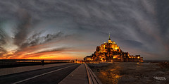 Coucher de soleil  Mont Saint-Michel (Jose Luis Garcia Tucci) Tags: sunset panorama france art nikon europe flickr artistic eu panoramic panoramicas normandie fr coucherdesoleil montsaintmichel saintmichel highquality nikonphotography jlgarciatucci nikonfr nikond610 jlgarciatucciphotography