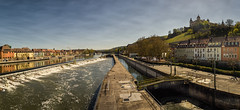Wrzburg Marienberg Fortress - Old Carl Zeiss Lens (gporada) Tags: bridge panorama water reflections river germany bayern deutschland bavaria outdoor wideangle adapter brcke fluss fortress spiegelung wrzburg festung oss carlzeiss weitwinkel 2016 ptgui stiching a7ii imagestabilization altemainbrcke leadingline 100faves icarex steadyshot skoparex top20germany world100f phvalue sonyphotographing visualdepth sonya7 marienbergfestung sonya7ii gporada cityofwrzburg carlzeissskoparex13435mm