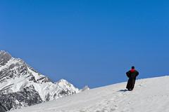 a man at Thajiwas Glacier (gurpreet_singh.) Tags: india snow glacier kashmir jk sonamarg thajiwas