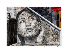 Is That A Red Lantern I Can See? (Fermat48) Tags: face lady mural georgetown malaysia lantern penang rone pinang australianartist nagoremews