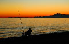 Cosy fishing (werner boehm *) Tags: sunset turkey sonnenuntergang wernerboehm
