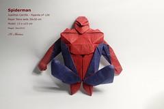 Spiderman - Juanfran Carrillo (valitrenta) Tags: spider origami spiderman mc hero superhero tetra papel seda papiroflexia carrillo pajarita juanfran metilcelulosa