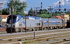 Saluki in Homewood (craigsanders429) Tags: amtrak passengertrains passengercars amtraktrains amtrakstations homewoodillinois amtrakp42locomotives amtrakinillinois amtrakssaluki amtrakmotivepower amtrakp42no16