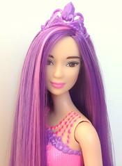 Shiny locks of royal puple hair (dolldudemeow24) Tags: hair doll long purple barbie kingdom endless 2016