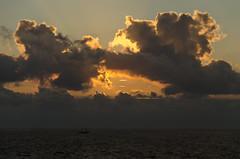 "Happy ""Earth day"" ! (nuriapase) Tags: ocean sunset sea sky orange sun mer holland sol nature clouds marina landscape gold soleil boat mar marine barco ship pacific or cel natura paisaje cielo nubes holanda oceano oro nuvols vespre paisatge vaixell ocea huisduinen"