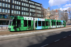 Lijn 10 -> Westergasfabriek (AMSfreak17) Tags: world light holland public netherlands dutch amsterdam canon advertising de traffic reclame transport nederland siemens tram rail railway transportation danny service kpn 13g trams strassenbahn sarphatistraat gvb ov the amsterdamse combino vervoer openbaar 70d 14g 2091 gemeentelijk of spotify vervoerbedrijf soet stadsvervoer amsfreak17 commercialtram