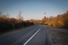 Biche Phare (florent.duchastel) Tags: road nyc light usa newyork animal america fuji unitedstates longisland atlantic deer route fujifilm montauk phare atlantique ligthouse x100 amerique x100t