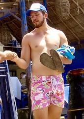 IMG_0859 (danimaniacs) Tags: shirtless man sexy guy hat beard mexico muscle muscular hunk cap puertovallarta stud scruff mansolo
