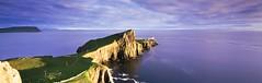 Eternal (rubberducky_me) Tags: ocean uk panorama cliff sun lighthouse film water grass scotland highlands isleofskye velvia linhof linhoftechnorama