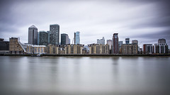 ... city line ... (jane64pics) Tags: city longexposure sky london river skyscape daylight cityscape towers business highrise docklands londoncity cityoflondon cityline